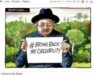 caricature du président Nigérian